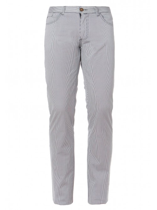 Pantalones largos SLAM Koteen azul marino con rayas blancas