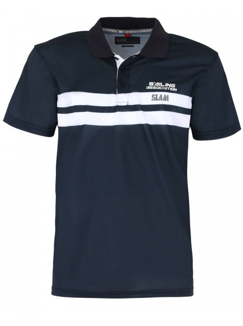 Polo SLAM Aspa color azul marino. Slim Fit.