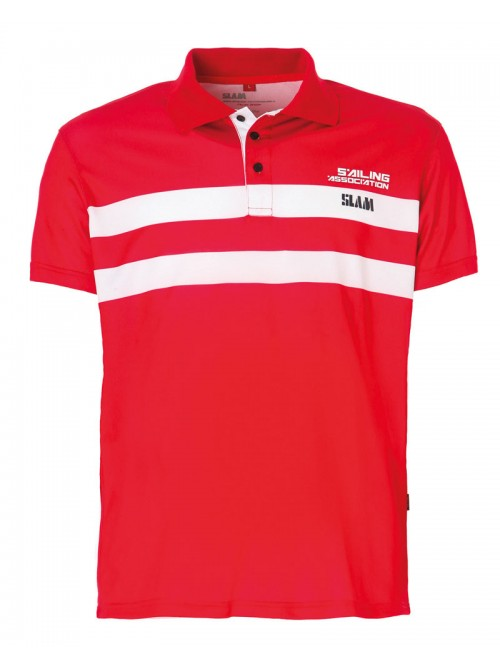 Polo SLAM Aspa color rojo. Slim Fit.