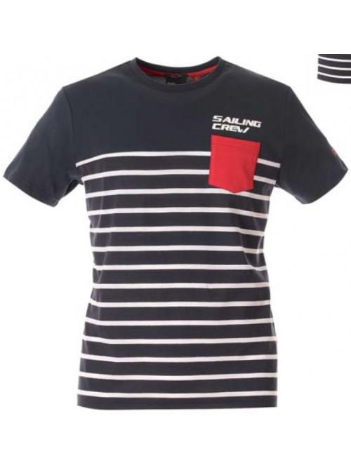 T-Shirt Slam Cerveteri ocean blue. Slim fit.