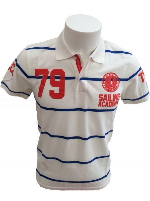 Polo Slam Jalisco white. Slim fit.