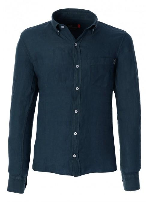 Slam Shirt Tindari ocean blue colour. REGULAR FIT.