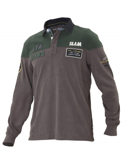 Polo Slam Slam LS Walker gray and green