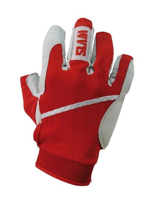 Gloves SLAM fingers 3/4 red colour