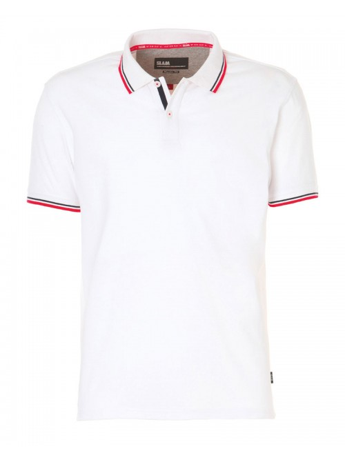 SLAM Polo Genoa 2.1 white colour. Regular Fit.